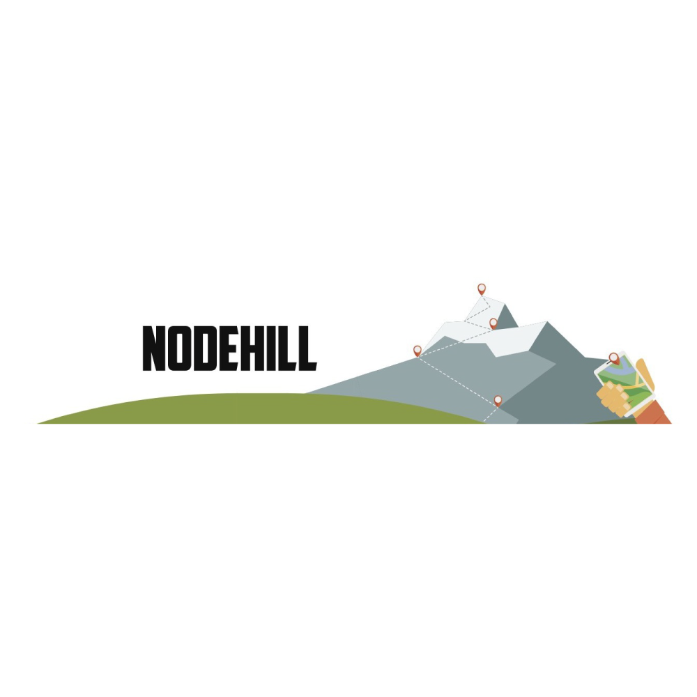 Node hill logo with text and hill